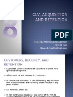 8. CLV, Retention, Acquisition