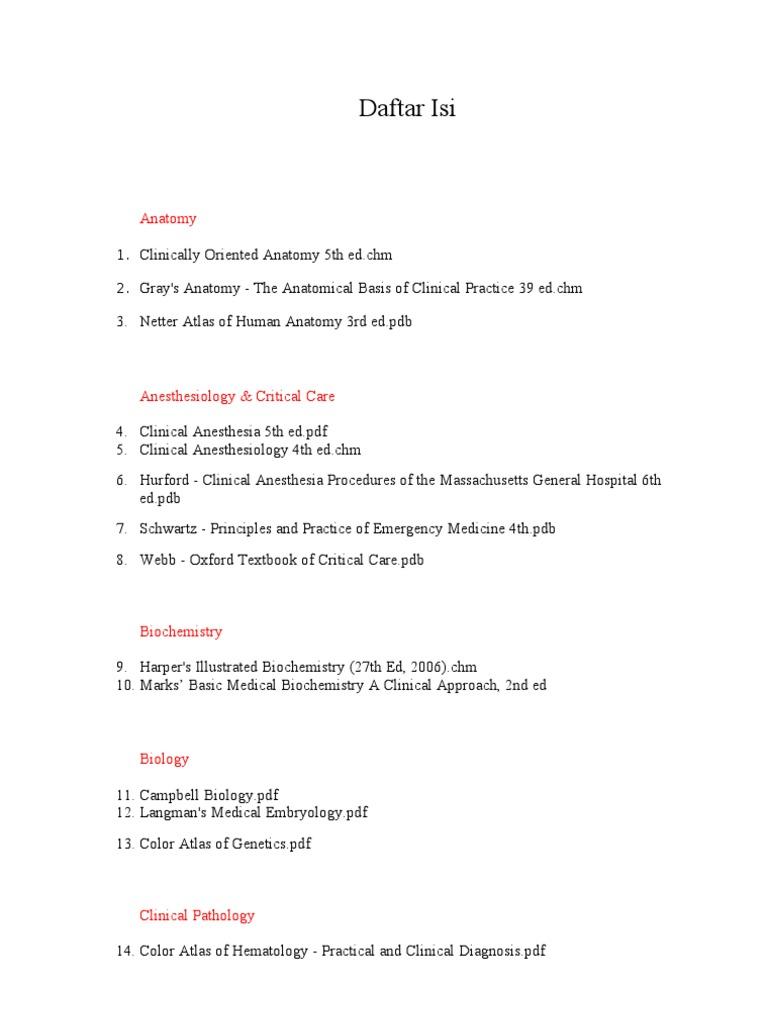 Daftar Isi | Cardiology | Heart