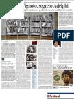 Lo choc dell'ignoto, segreto Adelphi - Corriere della Sera 21.06.2013