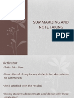 summarizing and note taking - review faculty meeting