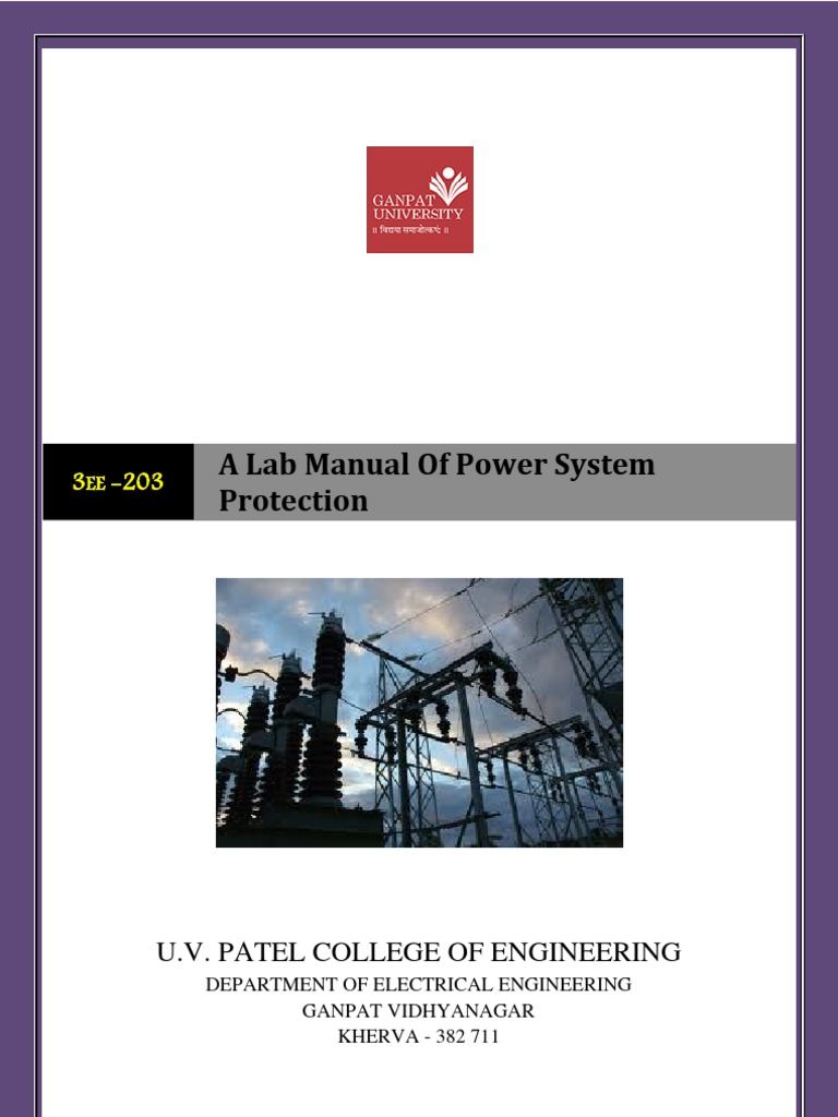 A Lab Manual of Power System Protectionfinal | Ac Power | Electric Power  System
