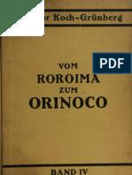 VOM ROROIMA ZUM ORINOCO BAND IV