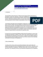 Four Main Theories of Development about development