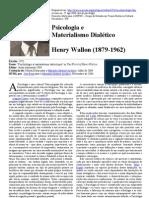 wallon - psicologia e materialismo dialético
