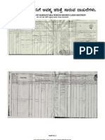 Important Revenue Documents in Relation to Agricultural and Alied Properties in Karnataka