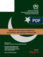 Report 5 of the Senate Committee on Defence and Defence Production, Pakistan