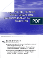 Aspek Politik, Ekonomi, Sosial Budaya Dan