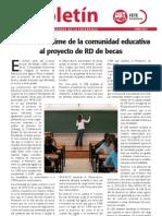 El Boletín. Rechazo unánime de la comunidad educativa al proyecto de RD de becas