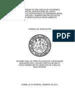 Informe de Practica Docente Supervisada 2013 - Ld
