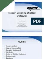 Stepes in Designing Shielded Enclosures