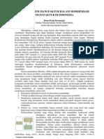 Peran Sistem Manufaktur Dalam Moderenisasi Manufaktur Di Indonesia