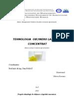 Tehnologia Obtinerii Laptelui Concentrat