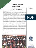Potch Girls High Newsletter 3 - 21 June 2013