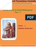 Kanchi Paramacharya Community - Stories Told by Sri Kanchi Mahaswami - eBook #1