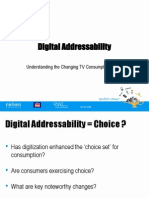 Digital Addressability- TV consumption patterns