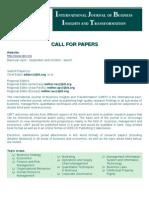 Call for Paper - IJBIT