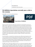 Paydata Ltd - Do Inflation Expectations Currently Pose a Risk to the Economy