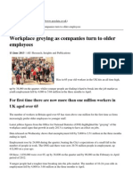 Paydata Ltd - Workplace Greying as Companies Turn to Older Employees