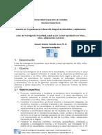 Línea de Investigación S_SS_SR_ propuesta_Manuel Velandia