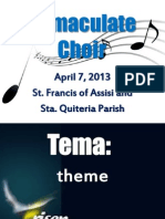 Power Point for Regular Sunday Mass (in Tagalog) April 7, 2013