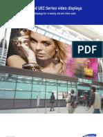 Samsung UDC and UEC Series Video Wall Displays