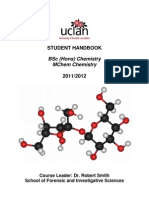 BSc and MChem Chemistry Course Handbook 201112