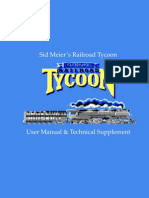 Sid Meier's Railroad Tycoon User Manual & Technical Supplement