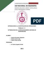 OPTIMIZACION DE LA OPERACIÓN MINERA UNITARIA DE PERFORACION