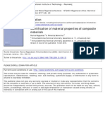 Identification of Material Properties of Composite
