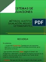 Sistemas de ecuaciones 2x2 y métodos para resolveros