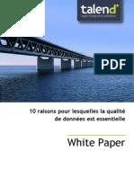 WP 10 Reasons Talend Data Quality FR