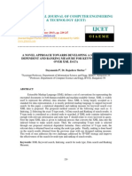 A Novel Approach Towards Developing a Statistical Dependent and Rank