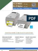 Sato Value Line OS-214 Series Argox Desktop Printers