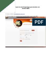 Criação de conta Google Apps para Docentes (AEDU)