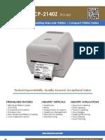 Sato CP-2140Z Desktop Barcode Printer Datasheet