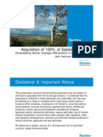 Acquisition of 100 Percent of Eastern Star Gas by Santos (18 Jul 2011)
