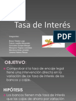 Exposicion de Ing. Economica - Tasa de Interes