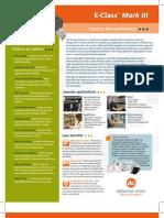 Datamax E-Class Mark III Desktop Barcode Printer Brochure