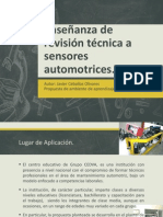 Enseñanza de revisión técnica a sensores automotrices