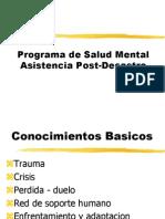 Programa Post Desastres