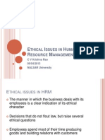 B E 10 Ethical Issues in HRM