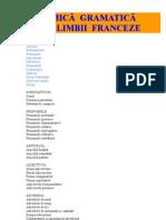 Mica Gramatica a Limbii Franceze
