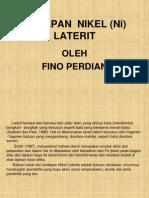 Presentasi Fino 2 ( Nikel Laterit)