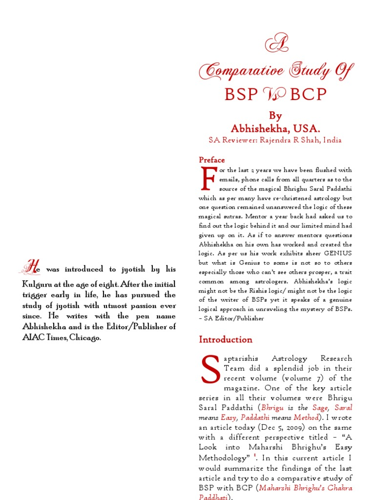 Bcp vedic astrology meaning
