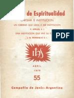 Bergoglio 1978 Institucion-Carisma