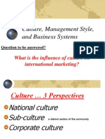International Culture and Management Style