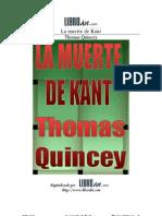 Thomas de Quincey - La Muerte de Kant