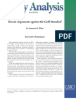 Recent Arguments against the Gold Standard