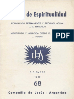 Bergoglio 1980 Formacion Permanente Reconciliacion