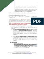 SERVICE TAX Amendments for Nov 2012